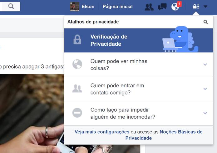 Facebook tem mais ferramentas para controle de privacidade dos posts do usuário (Foto: Reprodução/Elson de Souza)