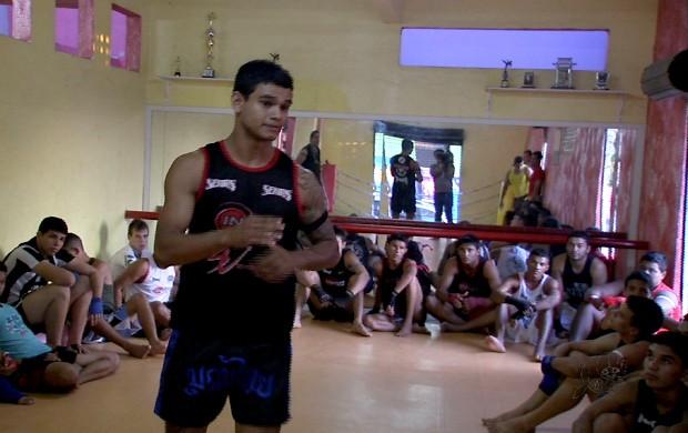 Pedro Sagat lutador de Muay Thai (Foto: Reprodução/ TV Verdes Mares)