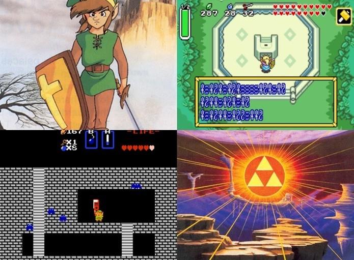 Versão ocidental de alguns jogos da série sofreram alterações para evitar polêmica (Foto: Montagem / Zelda Wiki)