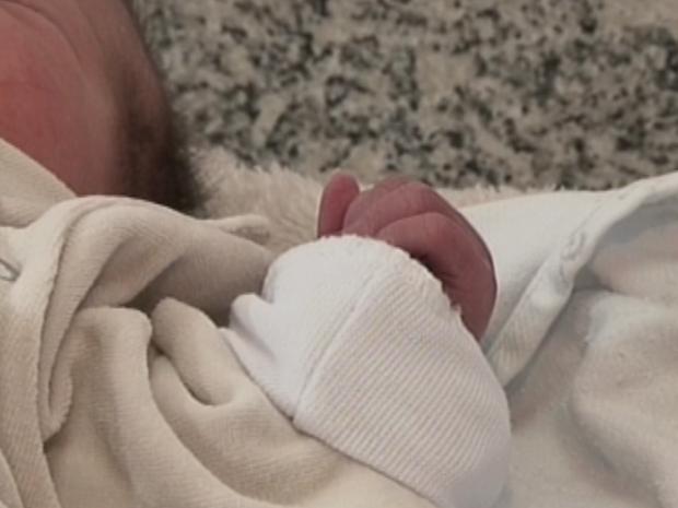 Recém-nascida Lages (Foto: Reprodução/ RBS TV)