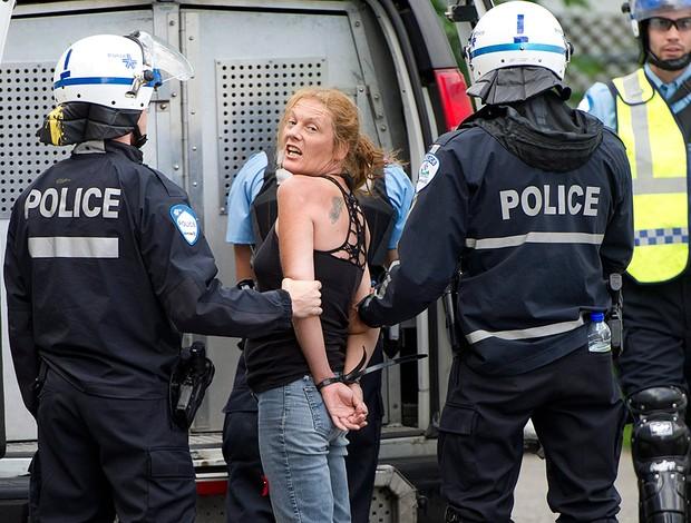 Protestos, Canadá, F1 (Foto: Agência AP)