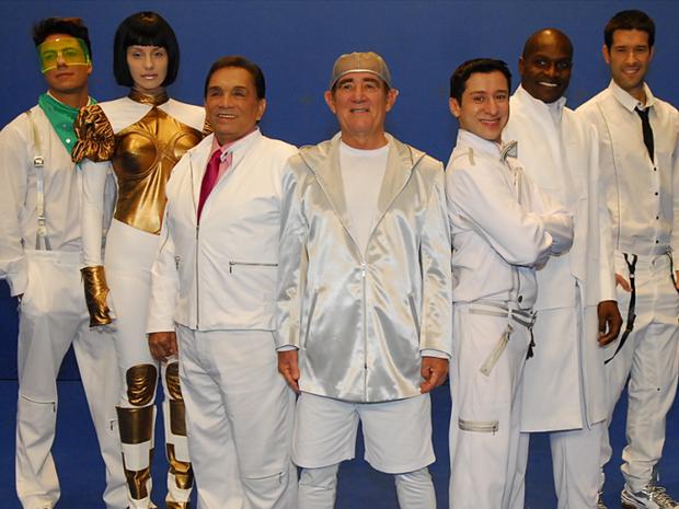 O elenco reunido (Foto: Reproduo TV Globo)