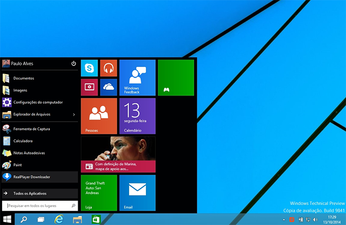 Microsoft comemora popularidade do Windows 10 Technical Preview (Foto: Reprodução/Paulo Alves)