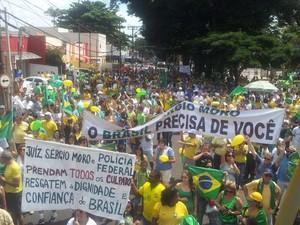 Segundo a PM e os organizadores do protesto em Ribeirão Preto, 25 mil pessoas participaram do ato (Foto: G1)