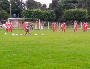 Vilhena treina antes da partida contar o Guajará pelo Campeonato Rondoniense  (Foto: Nilson Gonçalves/ arquivo pessoal )