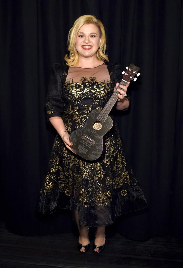 Kelly Clarkson em premiação em Nova York, nos Estados Unidos (Foto: Larry Busacca/ Getty Images/ AFP)