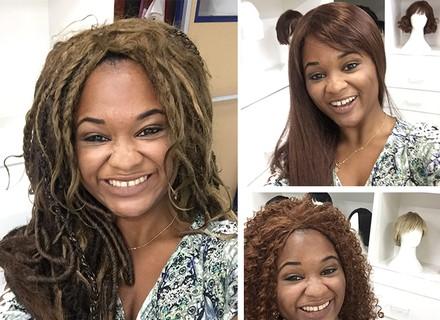 Mulher apaixonada por perucas visita acervo da TV Globo