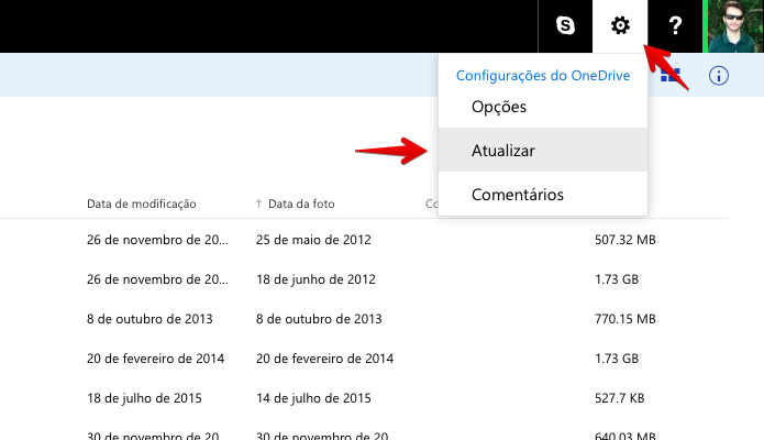 Acesse a opção de atualização de plano do OneDrive (Foto: Reprodução/Helito Bijora)