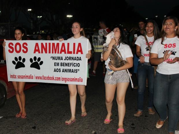 Evento foi organizado pela internet (Foto: Jamile Alves/G1 AM)