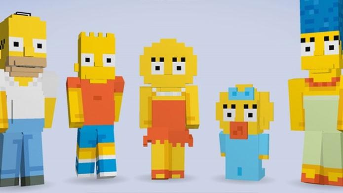 Simpsons são recriados em Minecraft (Foto: Divulgação)