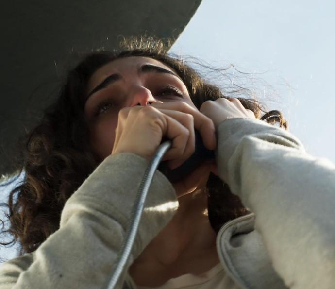 Ciça pede a Rodrigo para salvar Rodriguinho (Foto: TV Globo)