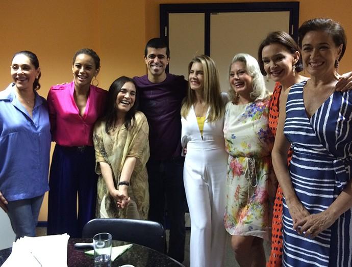Christiane Torloni, Taís Araújo, Regina Duarte, Marcius Melhem, Maitê Proença, Vera Fischer, Julia Lemmertz e Lília Cabral. (Foto: Guilherme Sousa / Gshow)