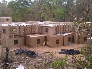 Carga de televisores foi encontrada na zona rural de Peixe (Foto: Divulgação/Polícia Militar do Tocantins)
