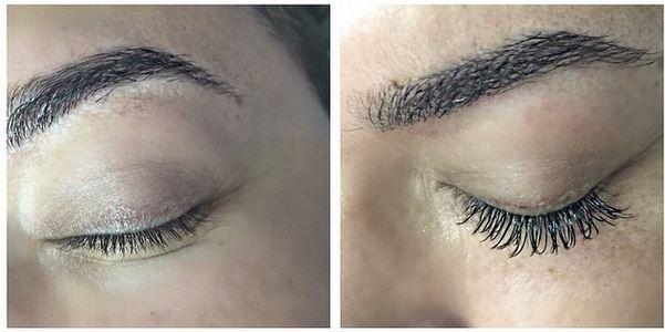 Antes e depois: David Brazil compartilha foto dos cílios (Foto: Reprodução do Instagram)