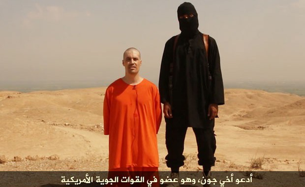 Imagem do vídeo divulgado na internet que mostra a suposta decapitação de Jame Foley, em agosto de 2014 (Foto: Reprodução/Archive.org)