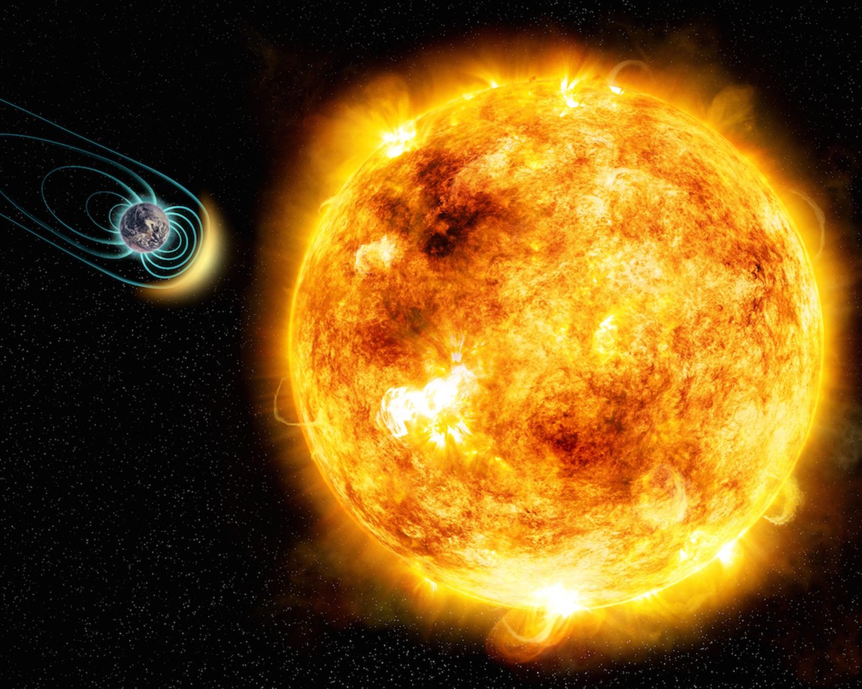 Representação de Sol e Terra