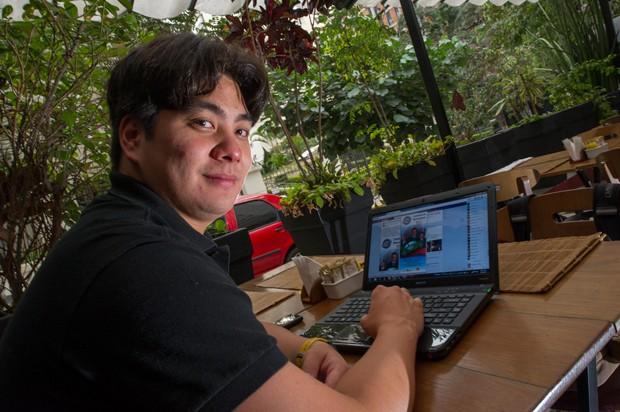 Paulo Suzuki, professor de pilates, que já eliminou dois contatos do Facebook por causa de propaganda eleitoral (Foto: Flavio Moraes/G1)