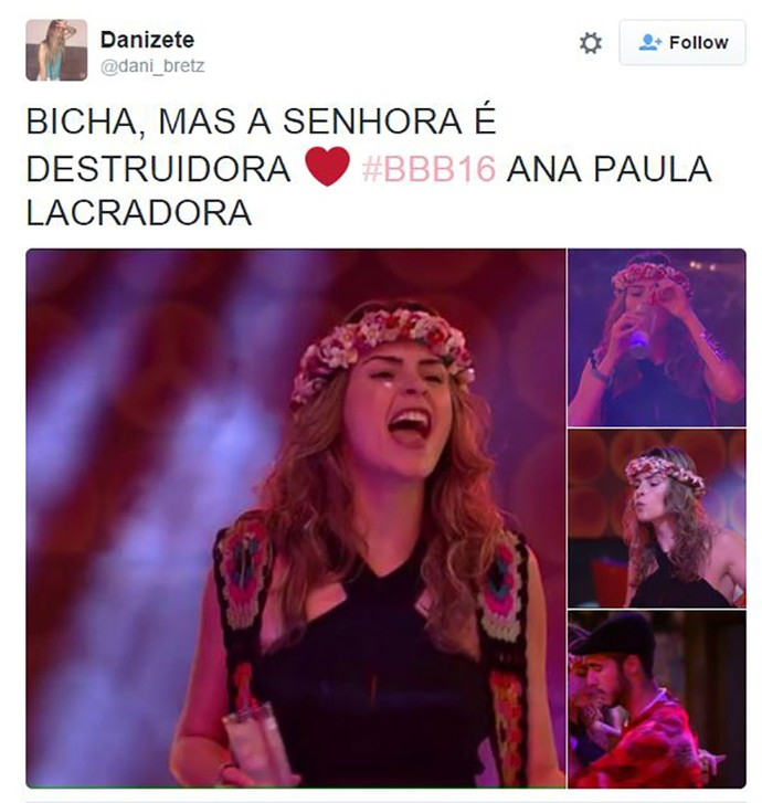 post ana paula destruidora (Foto: Reprodução Internet)