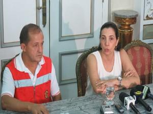 Daniel Onias e Rosana Russo comentaram sobre os resultados do incêndio. (Foto: João Paulo de Castro / G1)