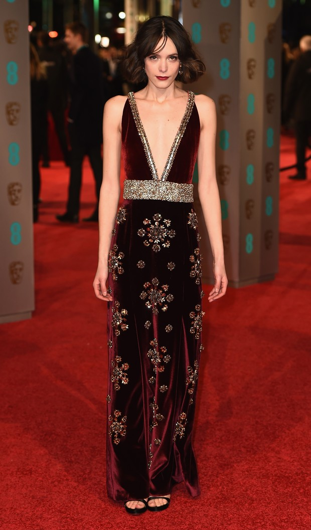 Stacy Martin no BAFTA (Foto: Getty Images)