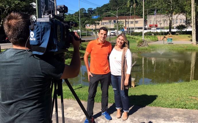 Felipe mudou de hábitos com ajuda da mulher (Foto: RBS TV/Divulgação )