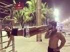 Sabrina Sato se exercita com Duda Nagle na orla do Rio