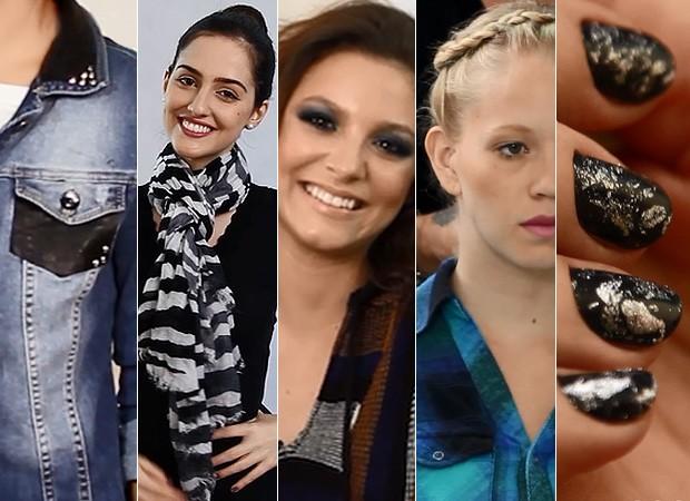 [MODA] Videos jaqueta, lenço, trança, make e unhas (Foto: EGO)