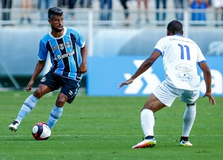 Léo Moura Grêmio x Veranópolis (Foto: Lucas Uebel/Divulgação Grêmio)