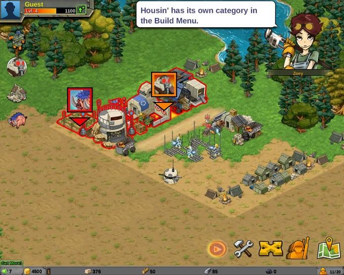 A sua base pode sofrer ataques de inimigos aleatórios do cenário do game ou de outros jogadores (Foto: Reprodução/Daniel Ribeiro)