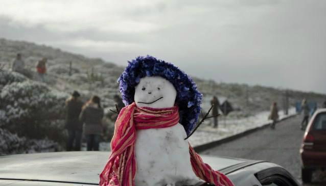 Neve em Santa Catarina foi considerada histórica (Foto: Marcos Oselane Vargas/Divulgação)
