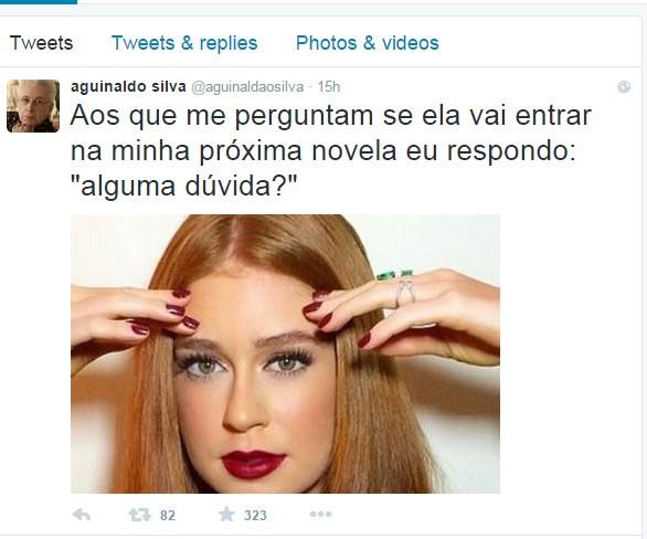 Marina Ruy Barbosa atuará em próxima novela de autor  (Foto: Reprodução Twitter)