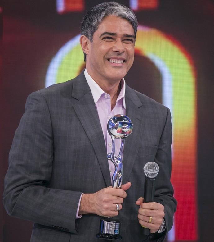 William Bonner no palco do Domingão do Faustão (Foto: Paulo Belote/TV Globo)
