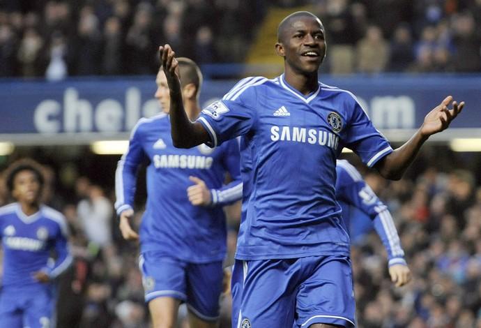 Ramires comemora, Chelsea x Crystal Palace (Foto: EFE)