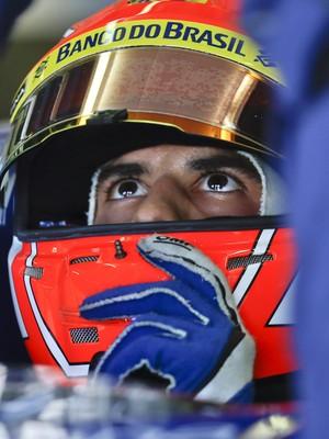 Felipe Nasr no treino classificatório para o GP da Itália (Foto: AP)