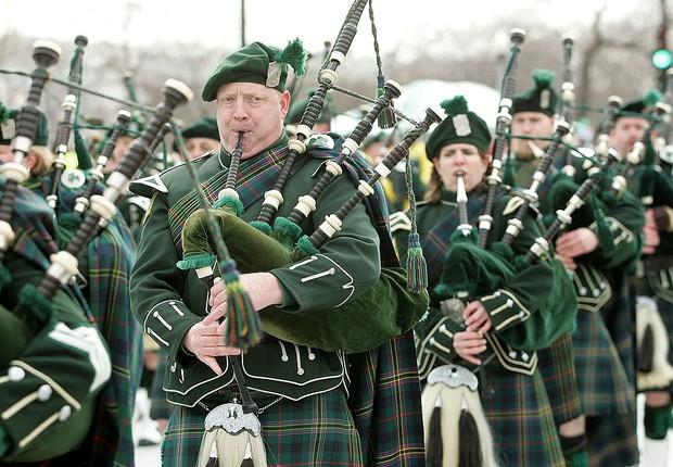 St. Patrick's Day é celebrado em várias partes do mundo (Foto: Tim Boyle/Getty Images)