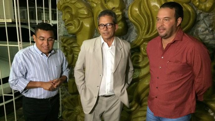 América-RN - Eliel Tavares, Hermano Morais e Roberto Fernandes (Foto: Jocaff Souza/GloboEsporte.com)