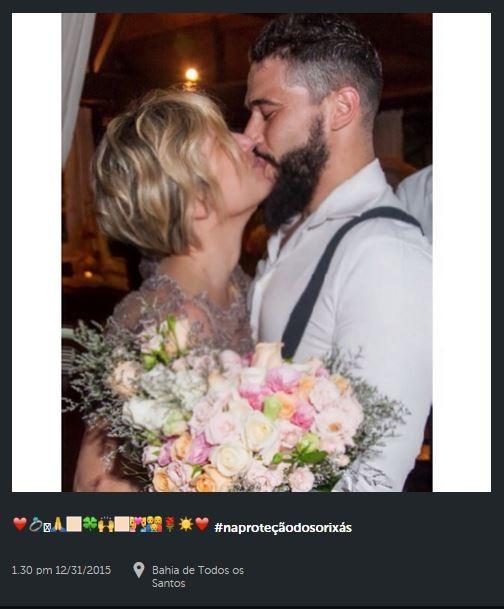 Natallia Rodrigues e Pedro Moutinho na Bahia (Foto: Reprodução/Instagram)