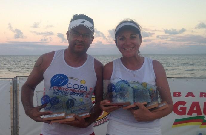 Eva Regina e Jailson Paz, do beach tennis (Foto: Arquivo pessoal)