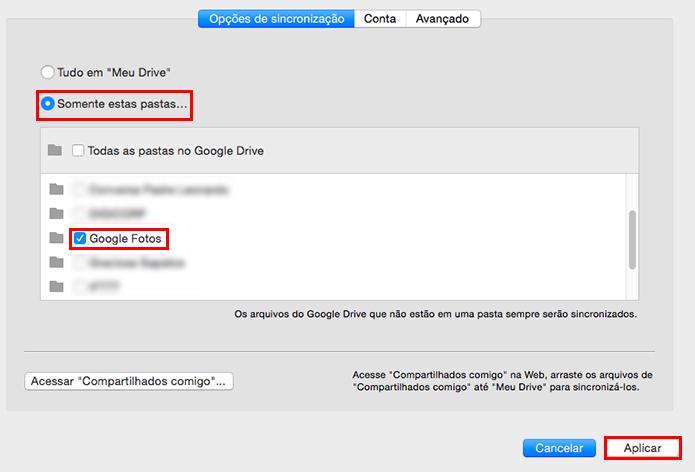 Sincronize o conteúdo do Google Fotos no Mac (Foto: Reprodução/Paulo Alves)
