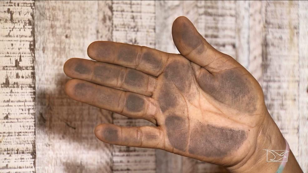 Resíduos de minério de ferro põem em risco a vida dos moradores (Foto: Reprodução TV Mirante)
