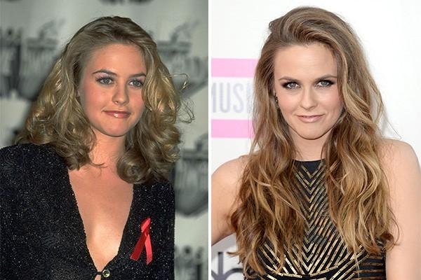 Alicia Silverstone (' As Patricinhas de Beverly Hills') em 1999 e em 2013, quando tinha 36 anos (Foto: Getty Images)