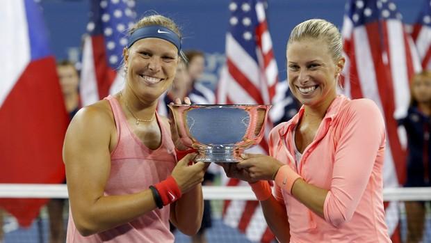 tenis us open Andrea Hlavackova Lucie Hradecka (Foto: Reuters)
