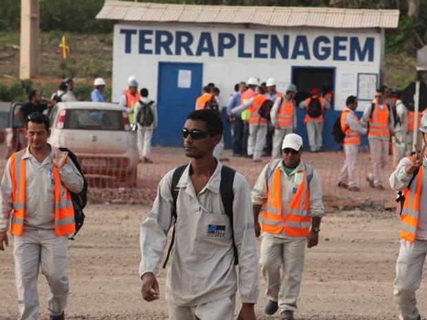 Trabalhadores retornaram para as frentes de trabalho  (Foto: Divulgação/ Norte Energia)