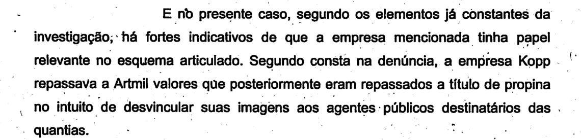 Documento cita empresas suspeitas de envolvimento no esquema (Foto: Reprodução/TJSC)