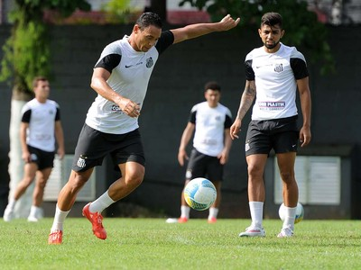 Ricardo Oliveira, Gabriel, Santos (Foto: Ivan Storti/Santos FC)