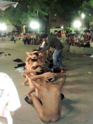 Grupo tirou a roupa para simbolizar repressão, diz UFC (Foto: Eduardo Brasileiro/ Acervo Pessoal)
