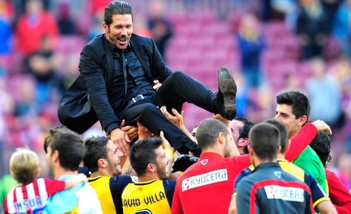 Diego Simeone Barcelona e Atlético de Madrid (Foto: Agência AP )