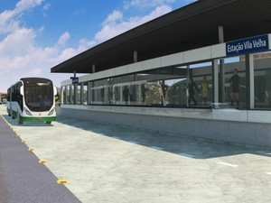 Arte mostra como serão as estações do BRT (Foto: Arte/ Governo do Estado)