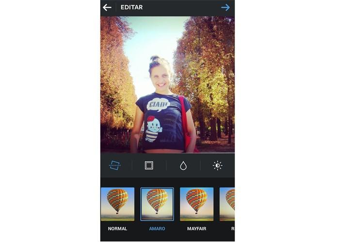 Filtro Amaro destaca o centro da imagem no Instagram  (Foto: Reprodução/Taysa Coelho)