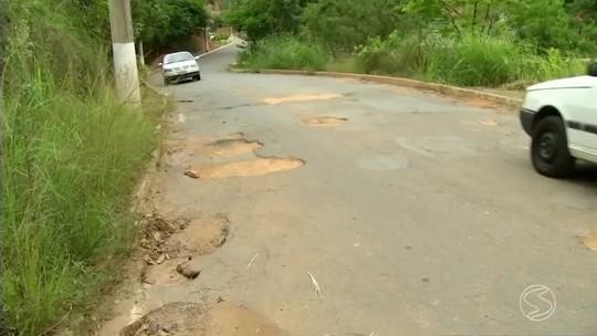 Motoristas reclamam de excesso de buracos nas ruas de Paraíba do Sul